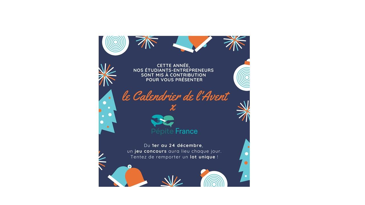 Le calendrier de l'Avent de PEPITE FRANCE - du 1er au 24 décembre 2020