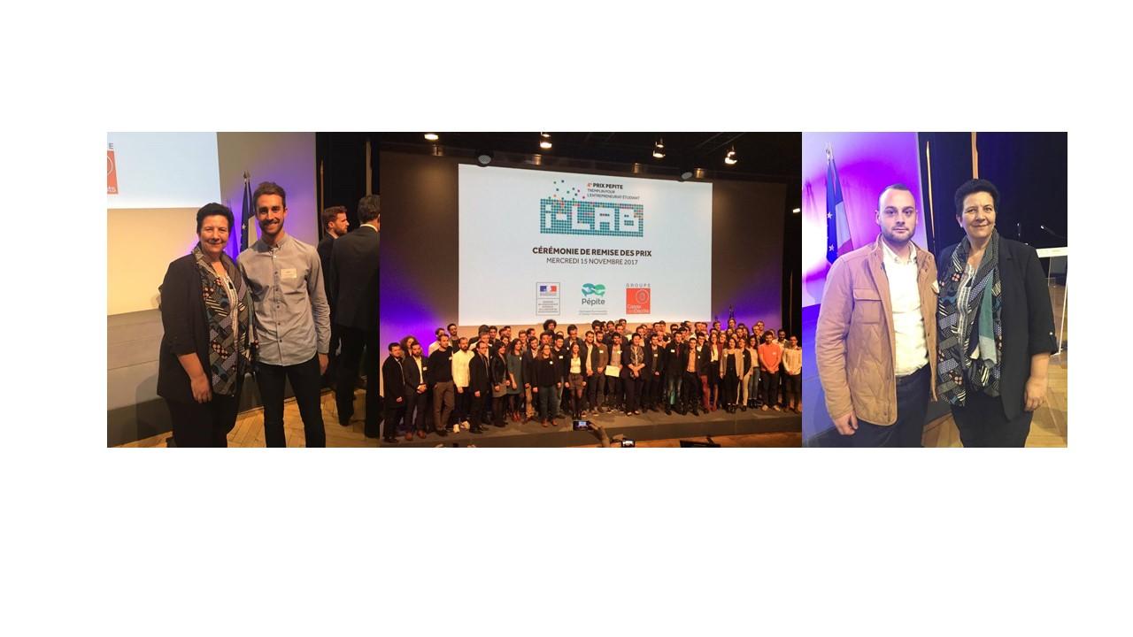 Bravo Julien TRIPARD et Valentin LAMIELLE lauréts nationaux prix PEPITE 2017 !