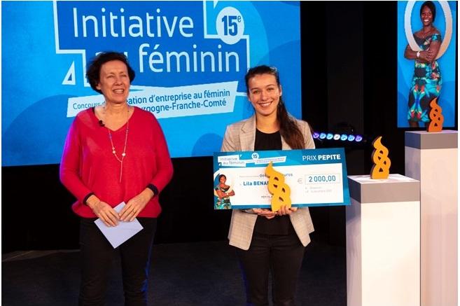 """Bravo Lila BENADDA lauréate du prix """"Etudiante"""" concours INITIATIVE AU FEMININ"""