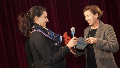 Ce prix lui a été remis par Pascale BRENET, coordinatrice régionale du PEPITE Bourgogne Franche-Comté