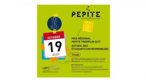 SAVE THE DATE ! Remise Prix régional PEPITE tremplin - 19/10