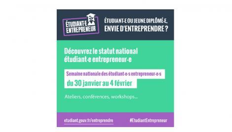 Semaine nationale des étudiants entrepreneurs 30/01 au 04/02