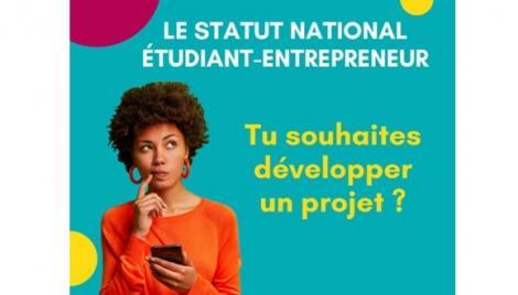 ETUDIER ET ENTREPRENDRE C'EST POSSIBLE ! Avec le Statut National Etudiant Entrepreneur