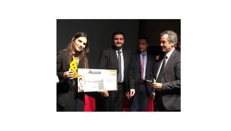 """Bravo Tifanny MORET Prix """"Entrepreneuriat Etudiante"""" Concours INITIATIVE AU FEMININ 2017"""